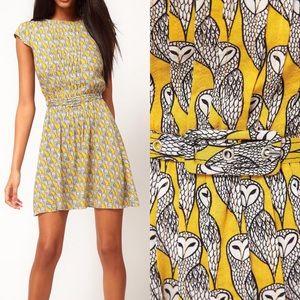 NWT ASOS Collection Owl Print Skater Dress